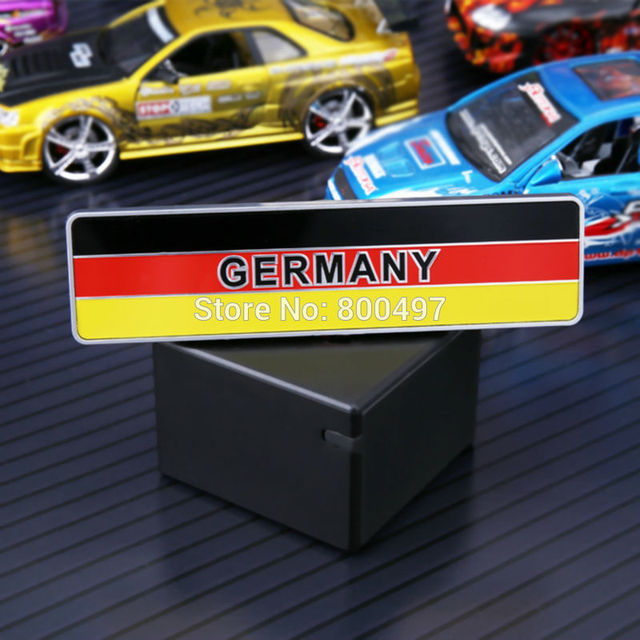 10 x newest 3d car trunk abs badge emblem for germany national flag sticker adhesive motocross