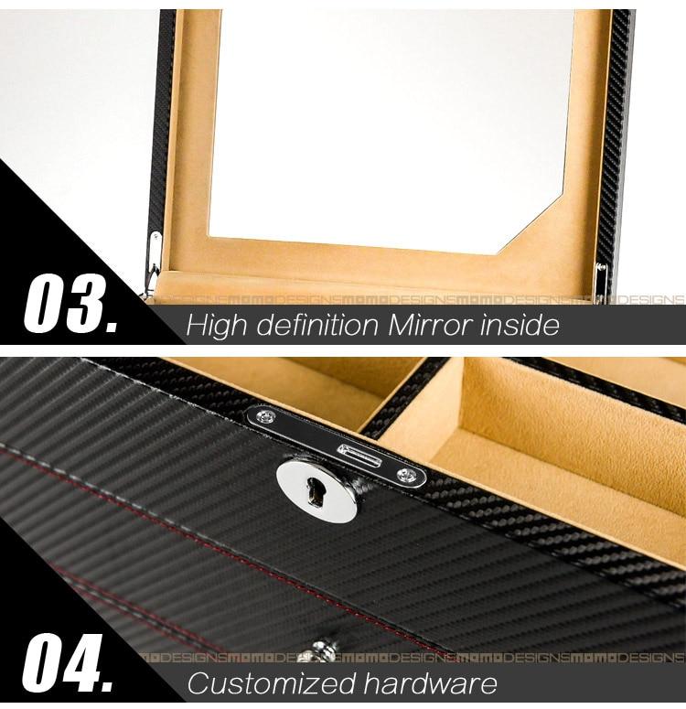 Роскошная коробка для очков 24 солнцезащитные очки коробки для хранения для очков Органайзер витрины для ювелирных украшений высококачественная искусственная кожа