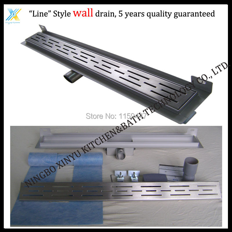 1000mm line Style Stainless Steel 304 Linear Shower Wall Drain/Horizontal Drain/Shower Floor Waste/Linear Shower Channel туфли clarks clarks cl567amacus1