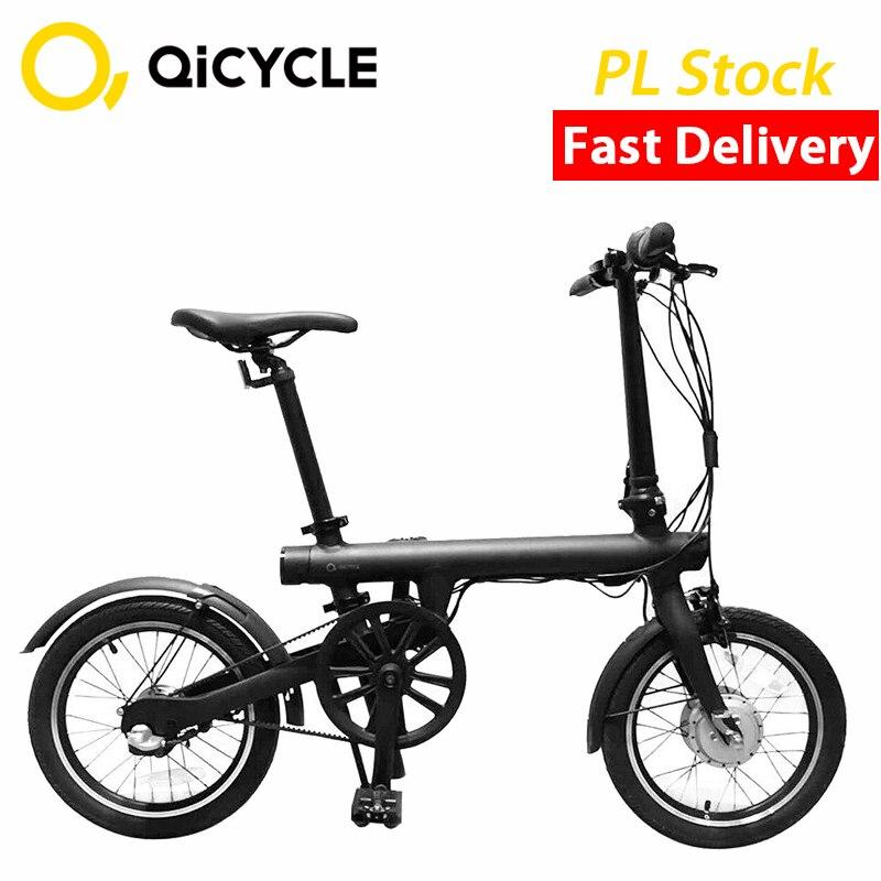 Новый Xiaomi Mijia Электрический велосипед QiCYCLE EF1 мини-Электрический Ebike 16 дюймов Смарт складной велосипед литиевая Батарея город мотоциклов нал...