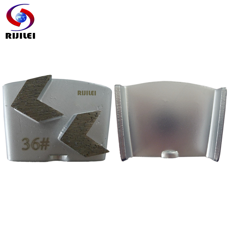 12PCS Set HTC Diamond Grinding Disc Snap Joint Grinding Block Segment Trapezoid Concrete Floor Diamond Polishing
