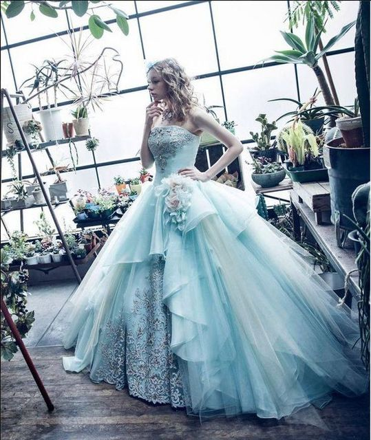 Cinderella Wedding Dresses Ruffle Snow White Wedding Dress Fantasy ...