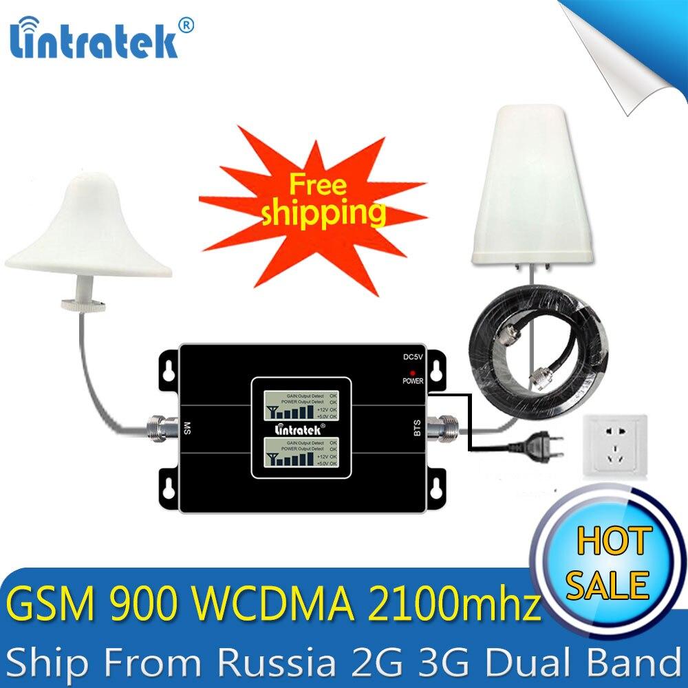 Lintratek russie 2G GSM 900 3G 2100 répéteur de Signal de téléphone portable Booster cellulaire GSM WCDMA UMTS 2100 2G 3G 4G antenne de Signal - 2