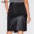 Nuevas señoras de la elegante elegante negro cuero de la pu faldas vintage calidad cremallera lápiz faldas asimétricas faldas de marca