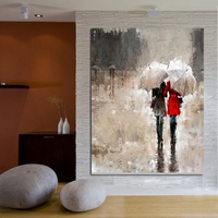 Pure Hand Painted Palette Knife Oil Painting On Canvas Abstract Naked Woman Make Love Sex Wall Art Wedding Decor Bedroom Decor