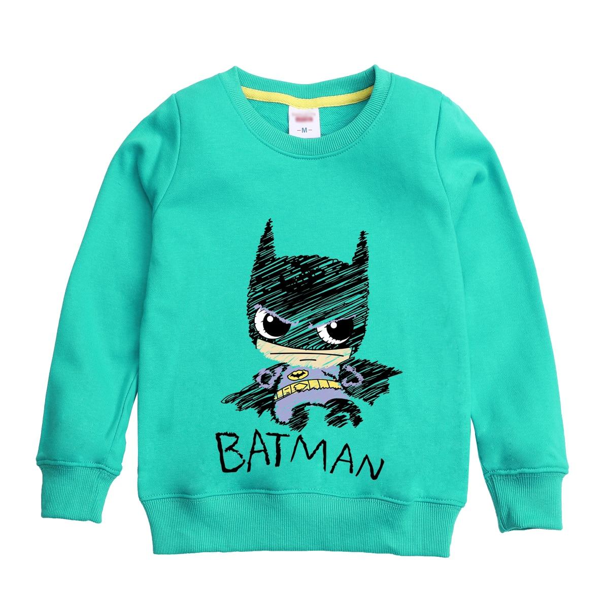 Бэтмен hero печатным рисунком 2018 Новая модная зимняя одежда осенний Свитшот дизайн для мальчика с капюшоном детская одежда для От 4 до 12 лет де...
