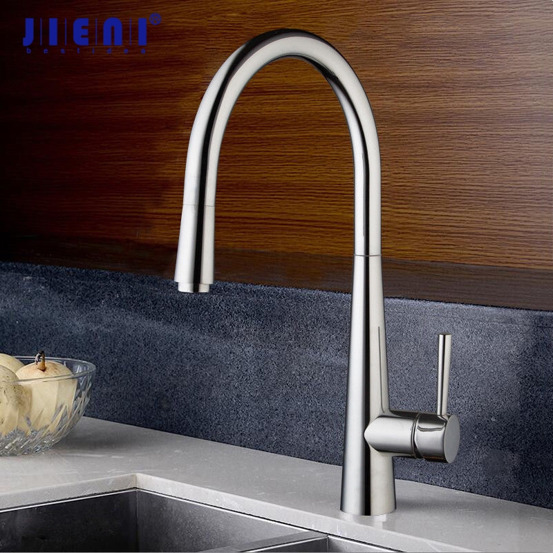 360 Swivel Chrome Finish Kitchen Faucet Pull Out Spout Chrome Kitchen Sink Basin Vanity Laundry Mixer Tap Swivel Faucet new design pull out kitchen faucet chrome 360 degree swivel kitchen sink faucet mixer tap kitchen faucet vanity faucet cozinha