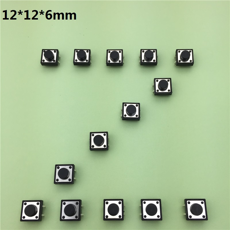 30pcs/lot 12x12x6MM 4PIN G83 Tactile Tact Push Button Micro Switch Self-reset DIP Top Copper Free Shipping Russia 50pcs lot 3x6x4 3mm 2pin tactile tact push button micro switch self reset free shipping