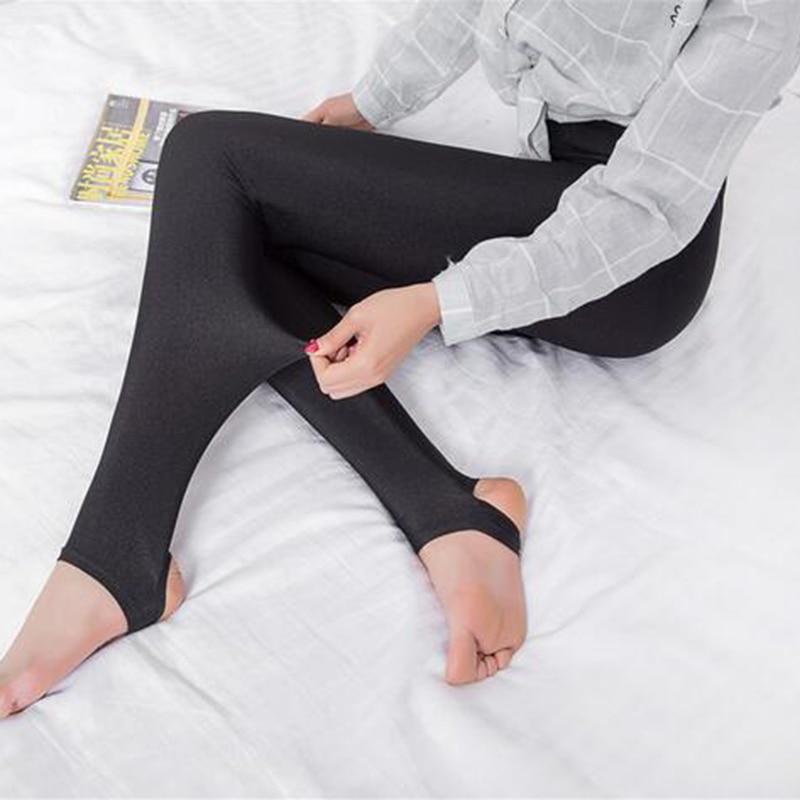 523e2bd4806b9 Glossy shiny black women leggings step on the foot girls leggings ankle  length black pants high elastic casual trousers 3061 -in Leggings from  Women's ...