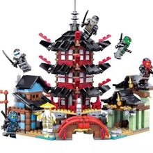 2019 new creative ninjaly temple dragon action compatible with Legoings building block toy ninja urban brick toy children's gift lepin 18029 828pcs my worlds ocean monument underwater temple building block compatible 21136 brick toy