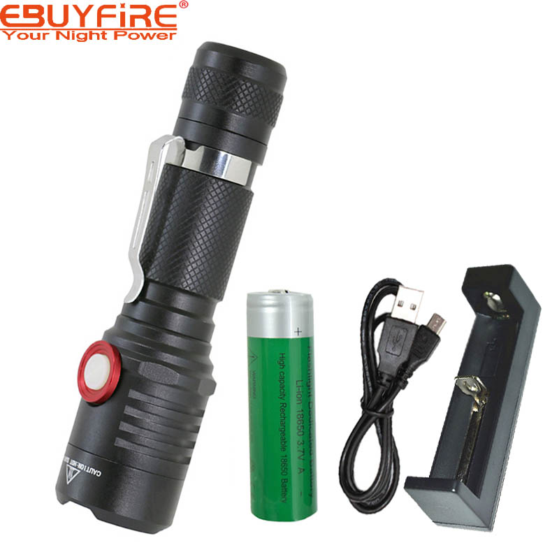 EBUYFIRE E670 USB CREE LED XML L2 flashlight LED Rechargeable 18650 torch waterproof Lamp light For Bicycle tent outdoor 6000lumens bike bicycle light cree xml t6 led flashlight torch mount holder warning rear flash light