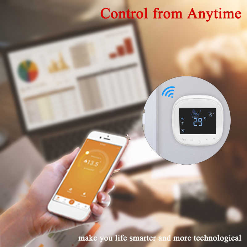 WIFI Thermostat Water/Electric Floor Heating Thermoregulator Water/Gas  Boiler Temperature Controller Works with Alexa