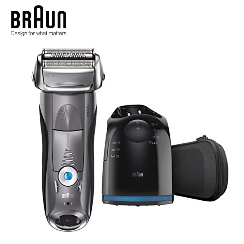 Бритвенный станок Braun электробритва 7865CC для мужчин, перезаряжаемая Серия 7, автоматическая бритва 1
