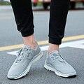 AD AcolorDay 2017 Venta Caliente Fly Armadura de Lujo Zapatos de Los Hombres Banda Elástica transpirable Air Mesh Zapatos De Moda Para Hombre Casual Mans calzado