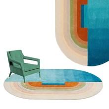 Радужные овальные акриловые ковры, круглые ковры для гостиной, детской спальни, ковер для выбора ковров, кухонные коврики и молитвенный коврик
