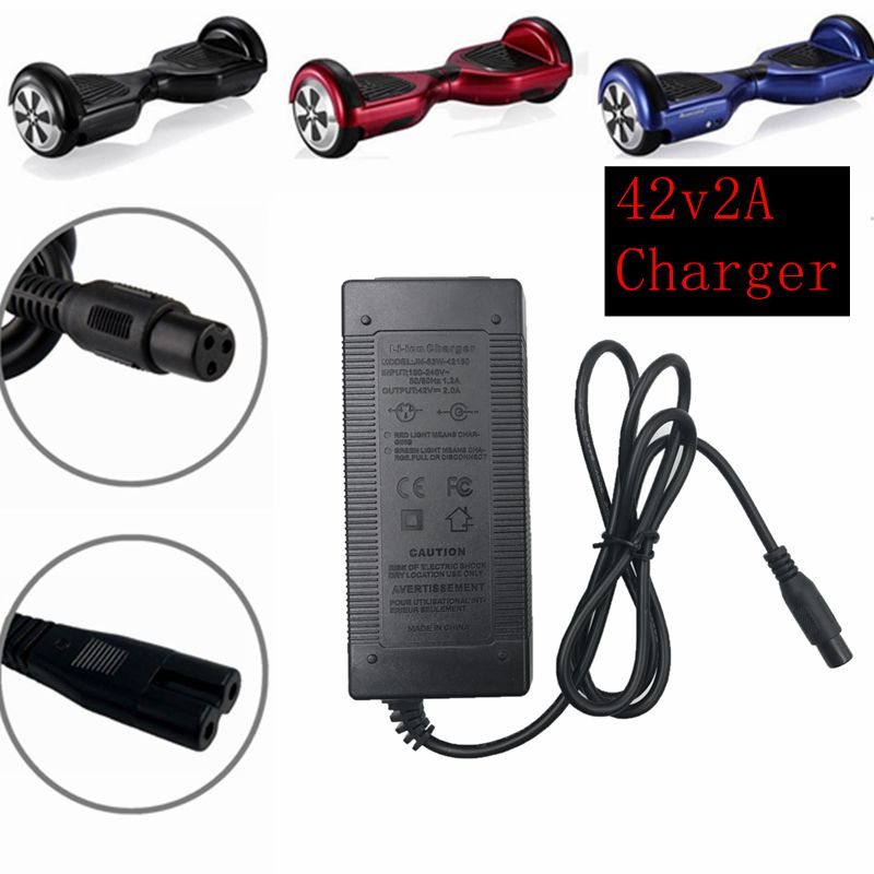 1 pc best price 42V 2A Universal battery charger for Hoverboard smart balance 36V electric power scooter adapter charger EU / US