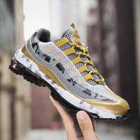 New High Quality Mens Running Shoes Atmos Max Air 95 Sneaker Speedcross Black Glod Mens Athletic Shoes Big Size