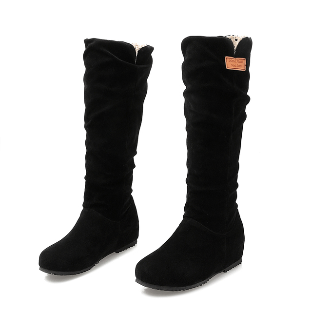 bce8f2f4909 Winter Boots Botas Mujer Big And Small Size 30-52 Women Shoes Knee High  Boots