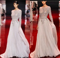 Vestidos Celebridades платье элегантный совок блестками сексуальная мужская вечернее - линия этаж - шифон платья знаменитостей