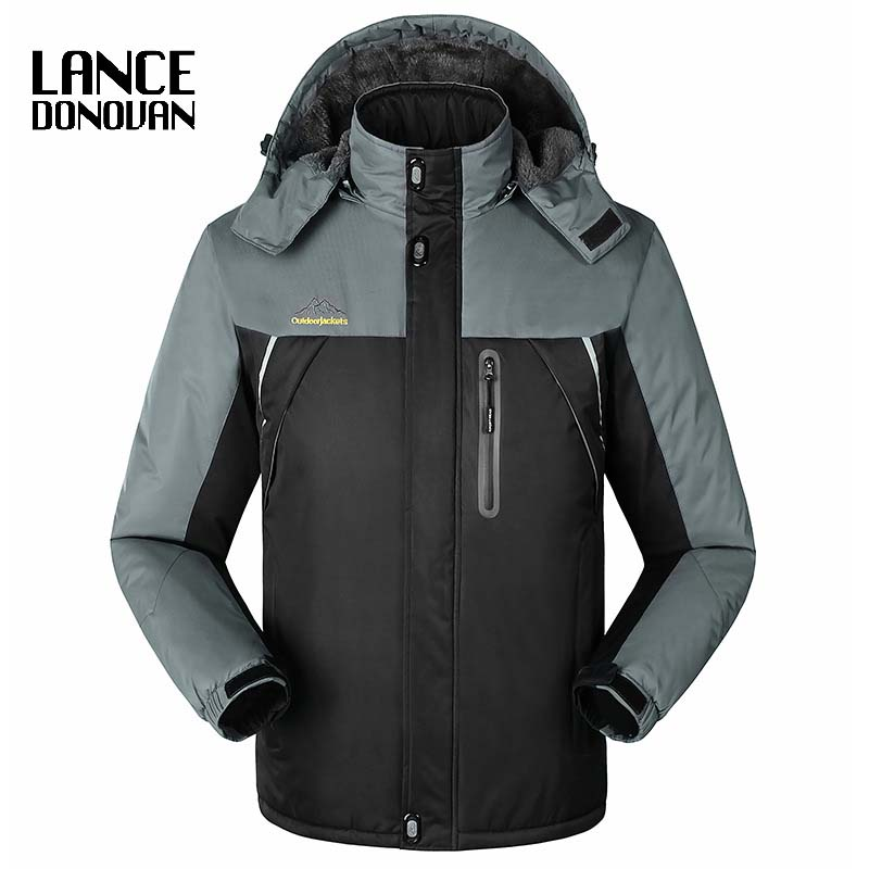 MAX CHEST 140CM PLUS SIZE 4XL 5XL <font><b>6XL</b></font> <font><b>7XL</b></font> 8XL <font><b>9XL</b></font> Thin winter Jacket Men 2019 New Arrival Hooded Windproof Waterproof image