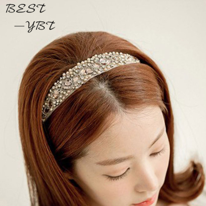 Attractive New Women Jewelry Crystal Beads Hairband Hair Accessories Headbands Wedding Hair Jewelry