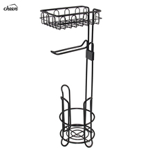 Wolnostojący drut metalowy uchwyt na papier toaletowy stojak i dozownik z półka do przechowywania na telefon komórkowy organizacja przechowywania w łazience