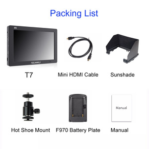 "Image 5 - Feelworld T7 7"" Camera monitor 4K HDMI 1920x1200 LCD IPS Full HD On camera Monitor Video Assist 7 inch Camera Field Monitor"