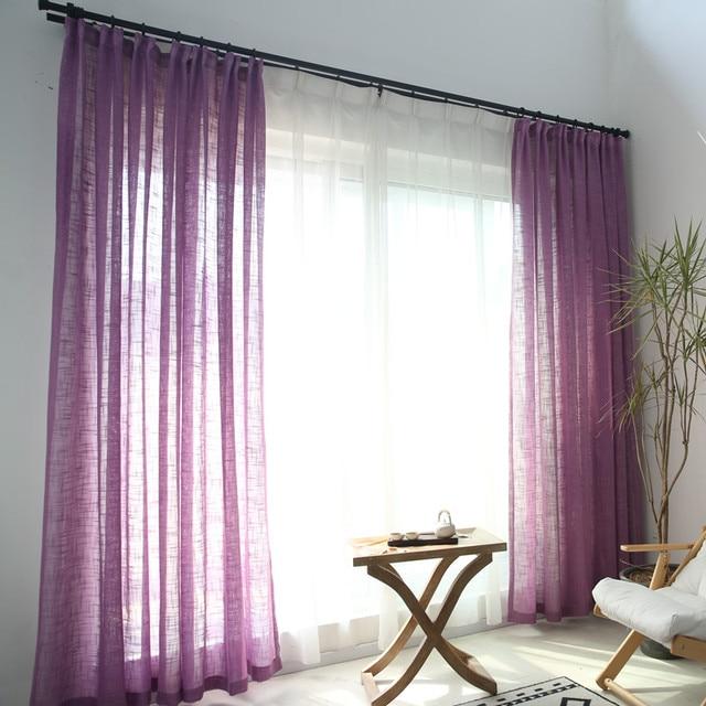 Tende blu solido tulle finestra modern living room di lino bianco tende di tulle bianco filato tende s039 & 30
