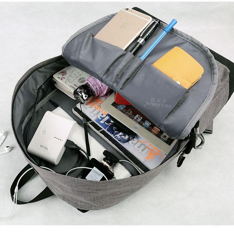 MIWIND toile hommes/femmes sac à dos étudiant sacs d'école pour adolescent filles garçon voyage sac à dos sac à dos cartable TMH1166 - 5