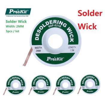 Rozlutownica Wick rozlutownica do lutowania remover próżniowe sucker rozlutownica pompa narzędzie do Proskit BGA lutowane Wick 1 5mm 2mm 2 5mm tanie i dobre opinie Pro'skit 9DP-031A 9DP-031B 9DP-031C