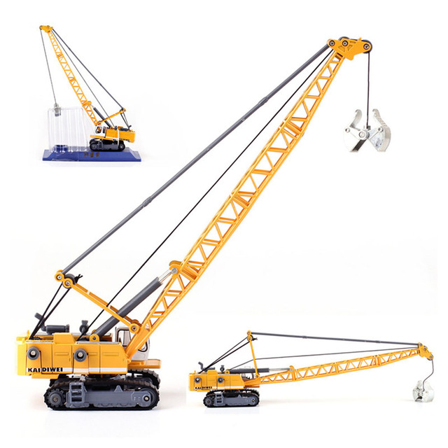 US Alloy Engineering Car Model 1 87 Excavating Machinery Tower Cable Mining Car Crane Toy Children S Day Xmas Gifts Kdw 620015 In Diecasts