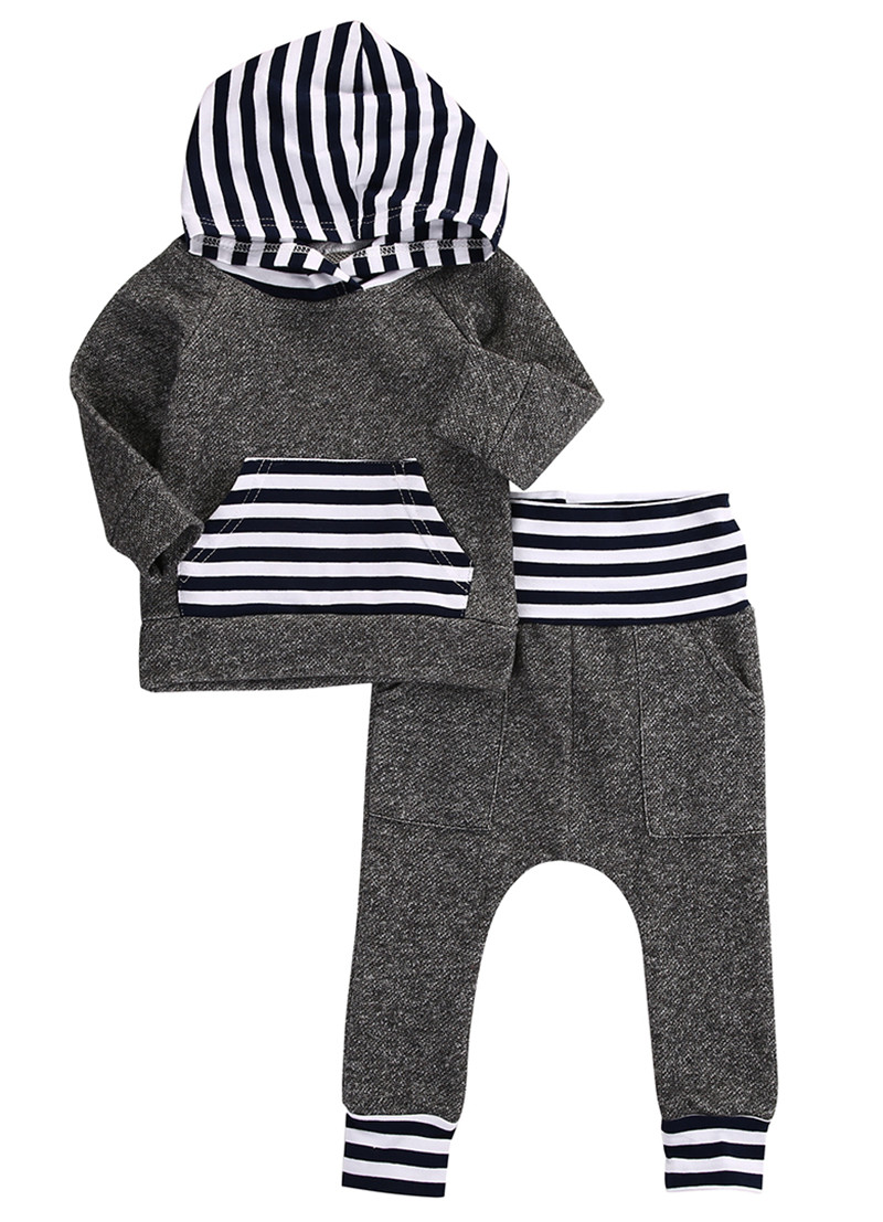 все цены на CANIS Toddler Newborn Baby Boy Girls Sweatshirt Long Sleeve Hooded Tops+Pants Autumn Outfits Clothes 2pcs Set 3M-3T онлайн