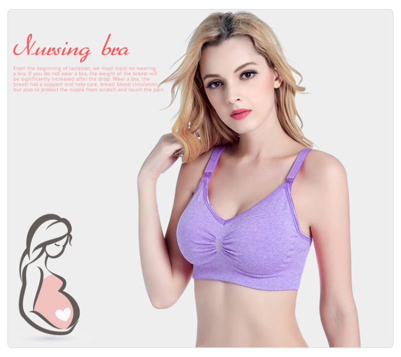216f4b7f1a92f 2Pcs Lot Plus Size Nursing Bra Front Open Wire Free Maternity ...