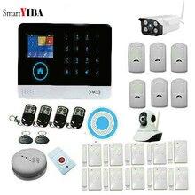 SmartYIBA WIFI 3G GPRS Alarm System Wireless Smart House Security APP Remote Control Outdoor Indoor IP Camera Smoke Fire Sensor