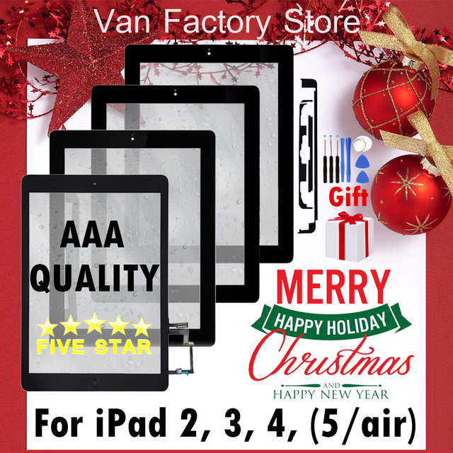 AAA+ Original Touch screen For iPad 2 3 4 5 air th rd nd Gen Touch Screen Front Display Digitzer Glass A1395 A1416 A1458 A1474