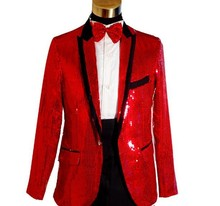 Multicolor Men's Suit Glittering Paillette Stage Clothing Singer or Host's Clothing