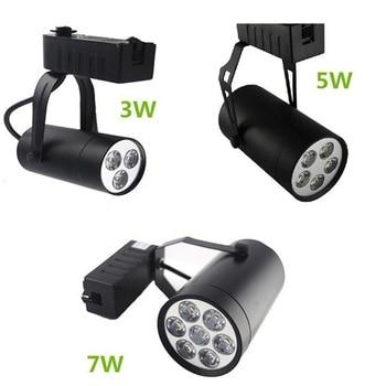 Luz de pista Led regulable 3 W/5 W/7 W/9 W/12 W Reflector Led de aluminio ahorro de energía foco Led para lámpara sala de exposición luz montada en superficie