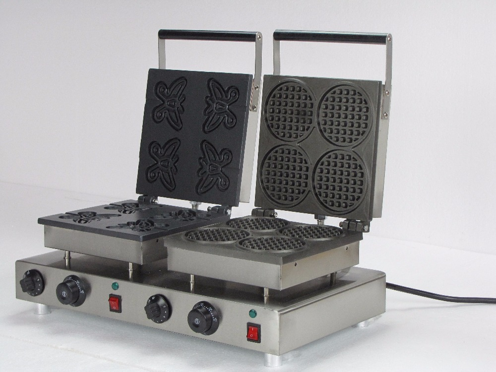 220V electric  double head  commercial waffle irons for sale double head commercial 110v 220v electric heart