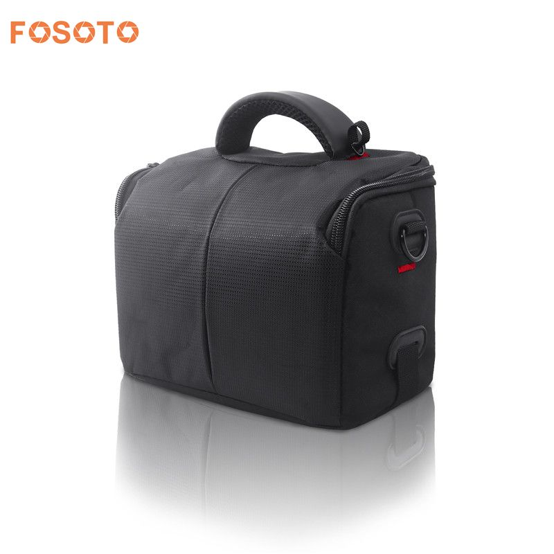 fosoto Digital DSLR Camera Bag Case Waterproof Photography Video Photo Shoulder Bags For Canon SX410 SX400 Nikon L340 L330 L840 waterproof digital dslr camera bag multifunctional photo camera backpack small slr video bag for the camera nikon canon