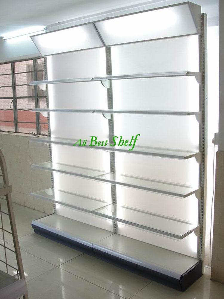 Supermarket Gondola Shelf Metal Store Display Rack With