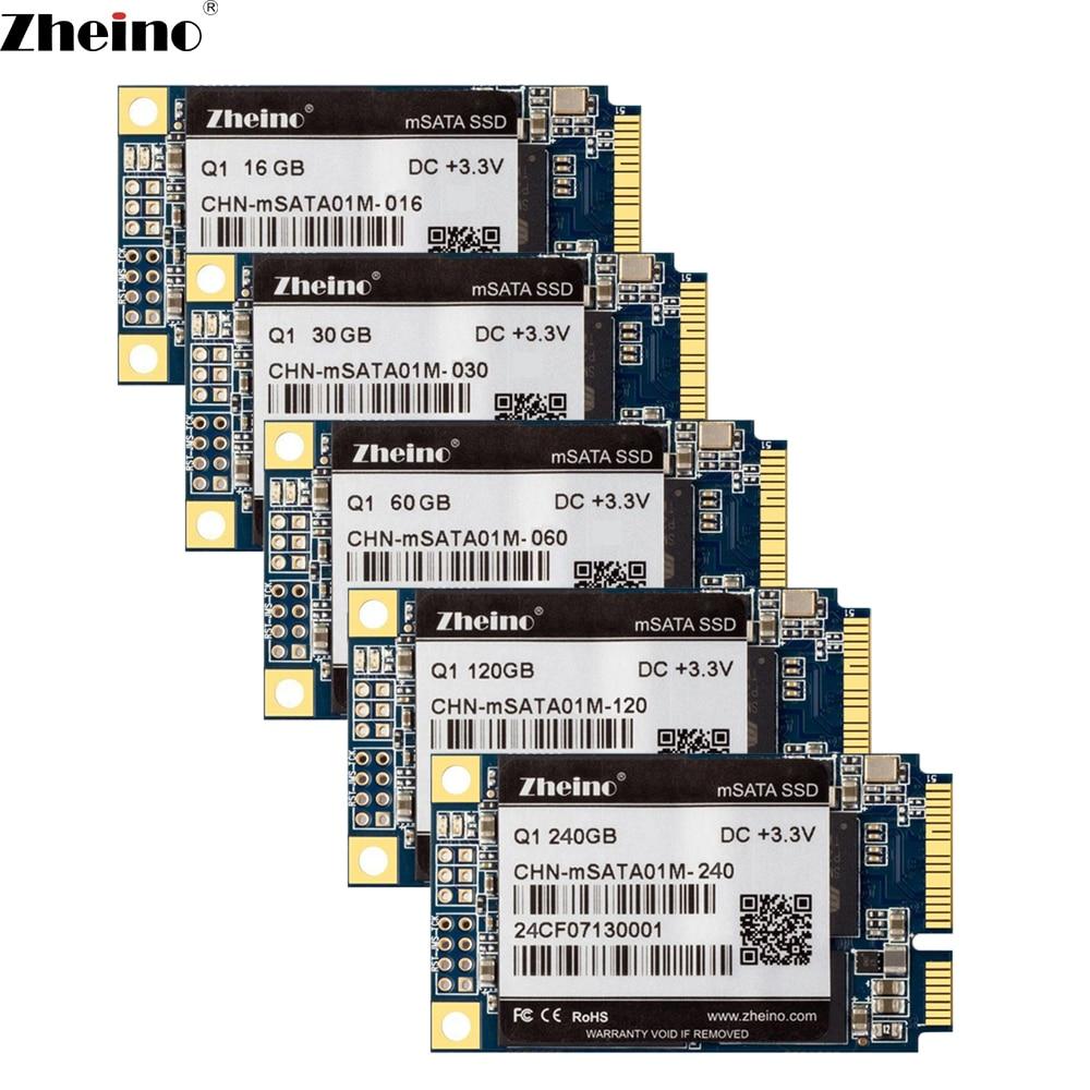 Zheino mSATA 16 GB 30 Gb 32 GB 60 GB 64 GB 120 GB 128 GB 240 GB 256 GB SSD 6 Gb/s interna de unidad de estado sólido MLC disco duro portátil PAD