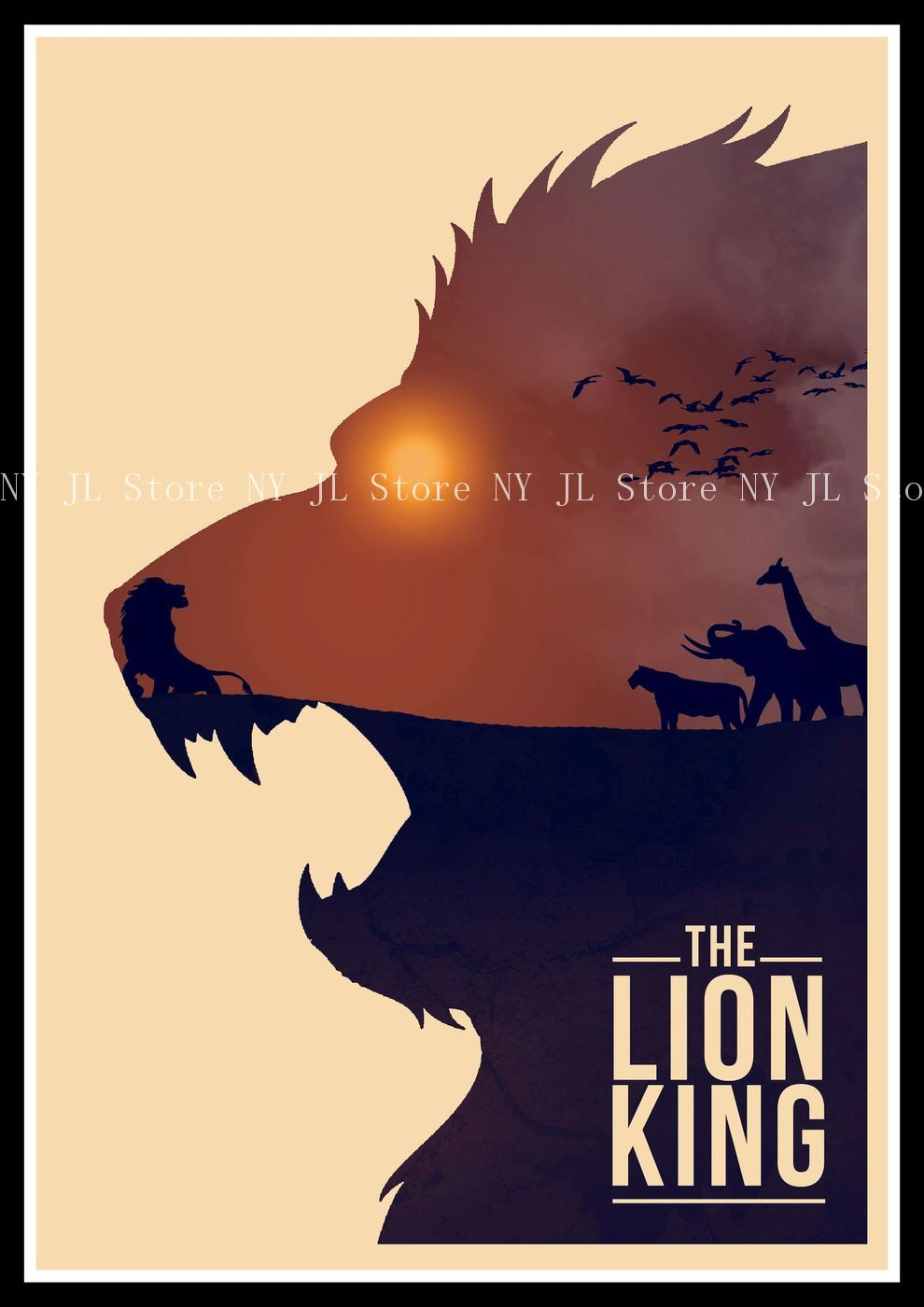 the lion king retro poster art wall home decoration movie