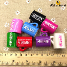 Free shipping!set 10pcs 3D resin cafe  colors.Resin coffee cup Cabochon for phone/key chain decoration,DIY.21x28mm.