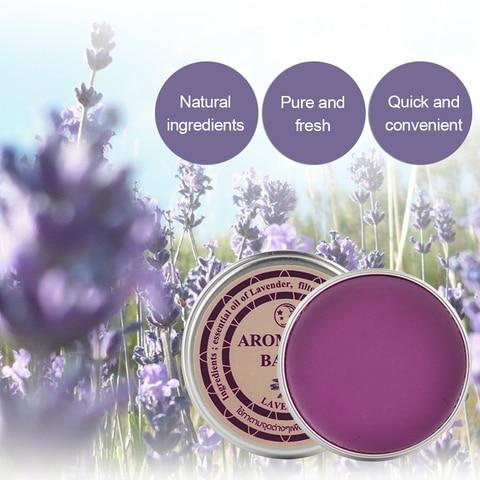 13g Effective Lavender Aromatic Balm Help Sleep Soothing Cream Essential Oil Insomnia Treatment Relieve Stress Cream TSLM1 Karachi