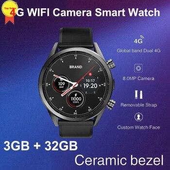 8MP Camera quad core 3G+32G 1.39'' AMoled Smart Watch Men sim Card GPS google map 4G WIFI business Smartwatch luxury design 2019
