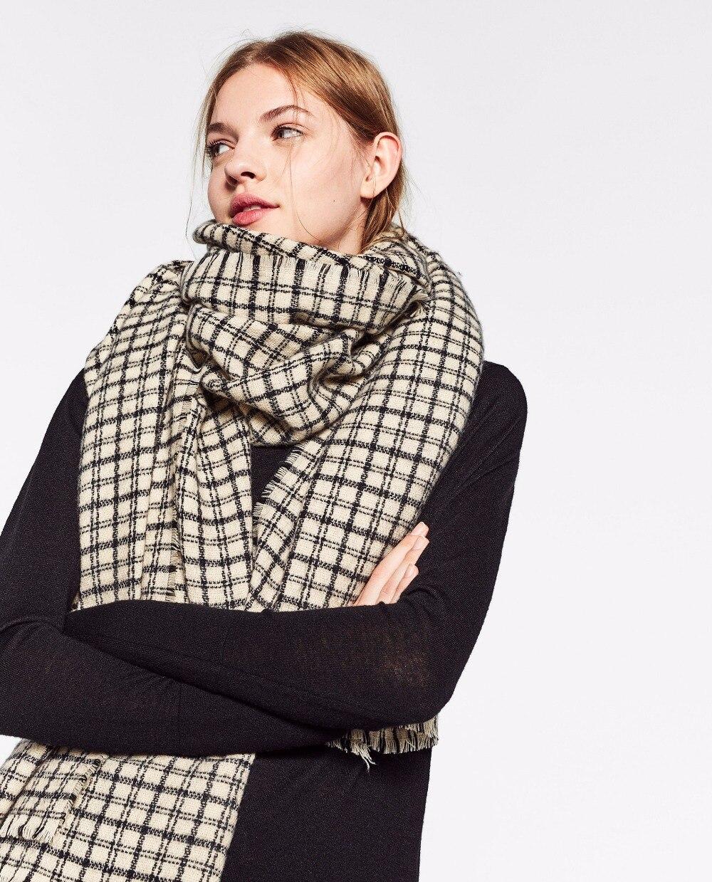 za winter scarf big size font b Tartan b font Scarf women desigual Plaid Scarf cuadros