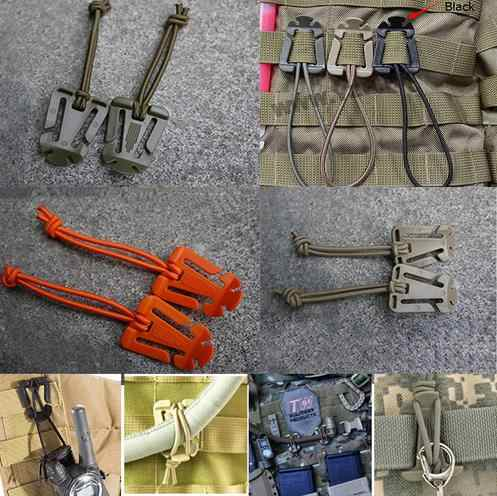 1PCS Webbing Military Dominator Elastic Cord Hang Buckle Clip PALS MOLLE Style Outdoor Travel Kits