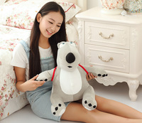 middle cute plush Unlucky bear toy creative gray bear toy with a bag gift about 45cm 0036