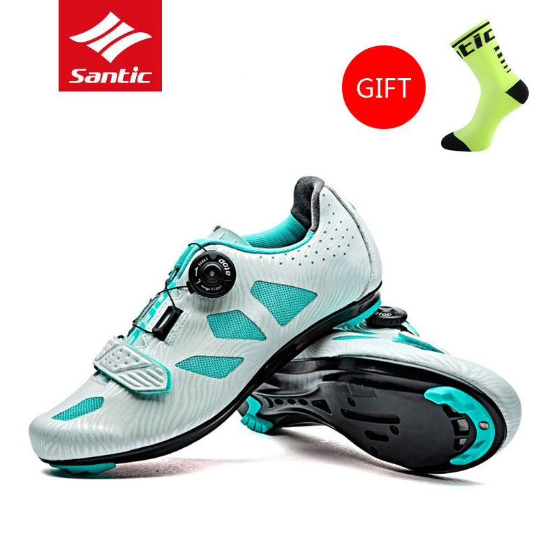 2017 Santic Women Breathable Road Bike Cycling Shoes TPU Wear-Resisting Zapatillas MTB Non-Slip Locking Athletic Bicycle Shoes west biking bike chain wheel 39 53t bicycle crank 170 175mm fit speed 9 mtb road bike cycling bicycle crank