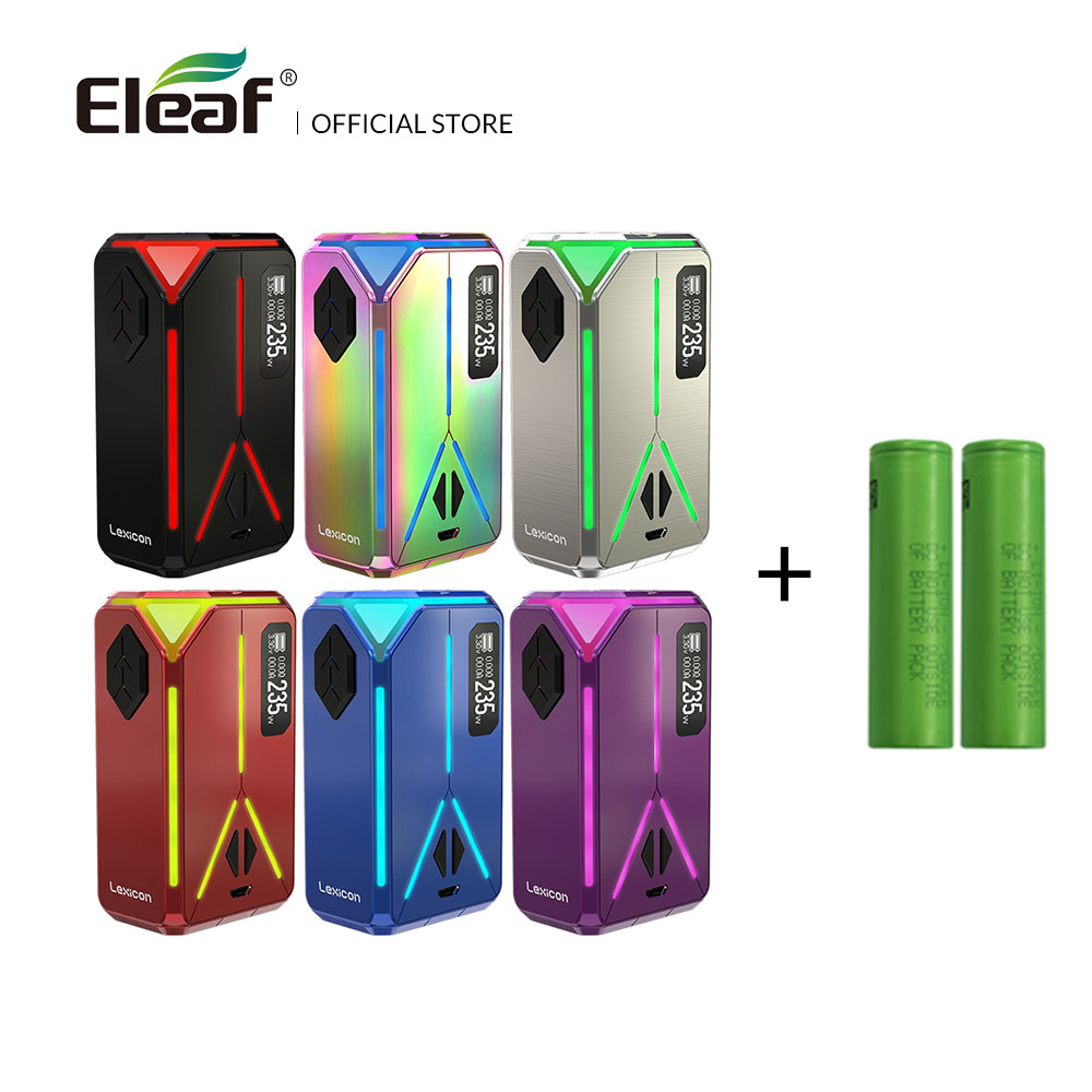 Original Eleaf Lexicon Mod 235W with dual 18650 batteries max Support ELLO Duro Atomizer 6.5ml Electronic Cigarette Vape original eleaf lexicon tc box mod 235w output preheat function w sparkling light effect for ello duro tank e cigarette vape mod